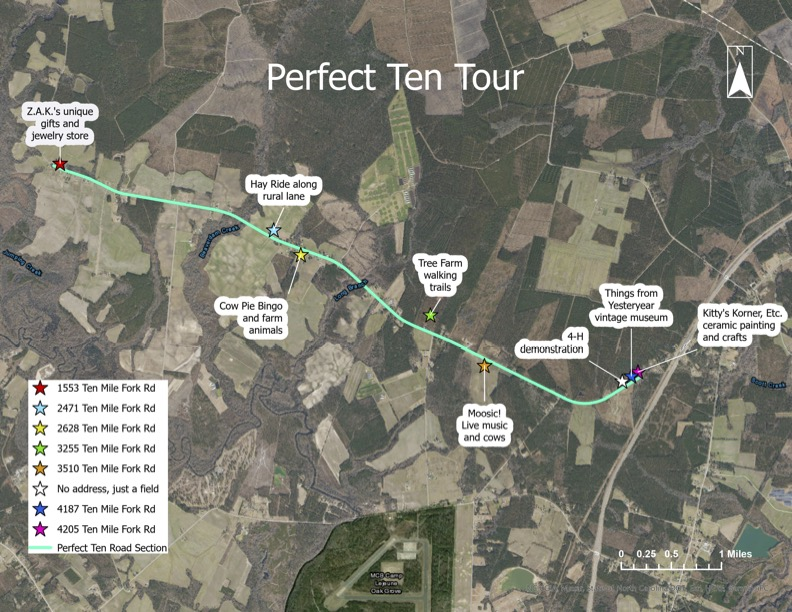 Filling Station Perfect Ten Tour Map